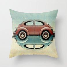 4 speed Bug Throw Pillow