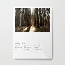 Begging the Tree (w/ Lyrics) Metal Print