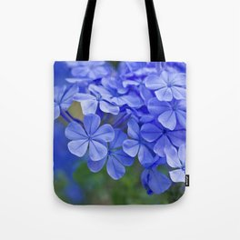 Summer garden blues - macro floral phtography Tote Bag