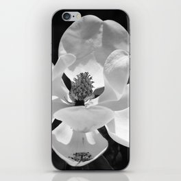 Magnolia In Black And White iPhone Skin