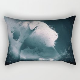 Girl in Negative Space Rectangular Pillow