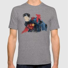 $uperman 2X-LARGE Tri-Grey Mens Fitted Tee