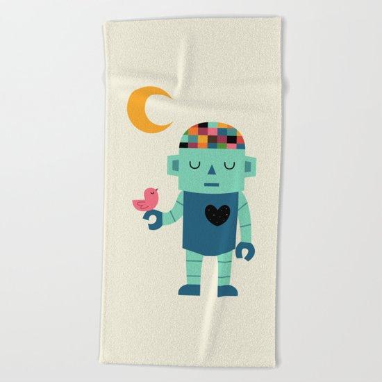 Robot Dreams Beach Towel