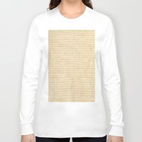 knit Long Sleeve T-shirts featuring Woven Knit by Verity Bushby