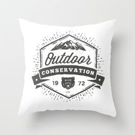 Outdoor Conservation Throw Pillow