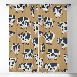Cow Collection - Kraft Blackout Curtain