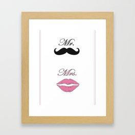 Mr & Mrs Framed Art Print