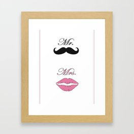 Mr & Mrs Framed Art Print