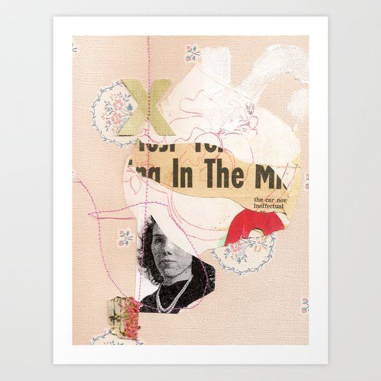 """in the mix"" Art Print"