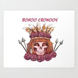 Bohoo Vodoo Skull Art Print
