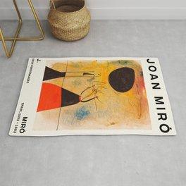 Joan Miro - Deux Personnages - Exhibition Poster - Art Print - Vintage Paintings Rug
