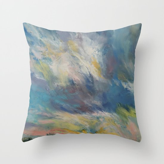 Clouds at Sunset Throw Pillow