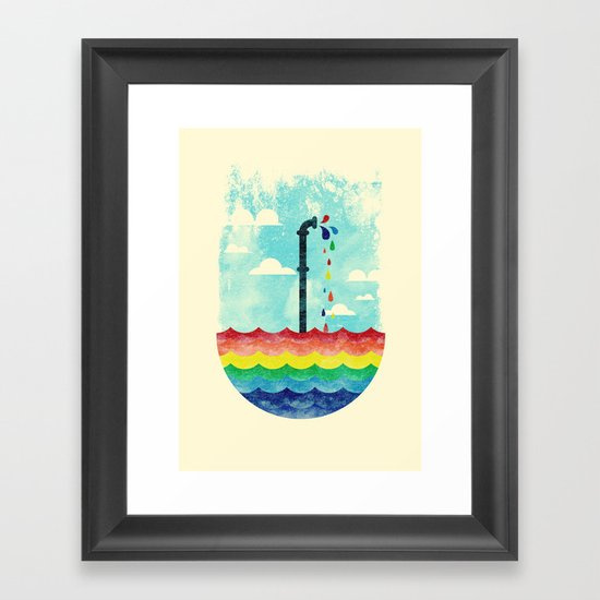 Pond Of Color Framed Art Print