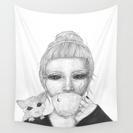 Space tea Wall Tapestry