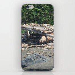 Hut made of driftwood at Klamath Beach iPhone Skin