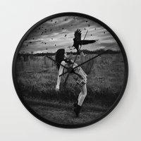 divergent Wall Clocks featuring Divergent by Stephanie Massaro