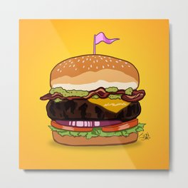 Bacon Cheeseburger Metal Print