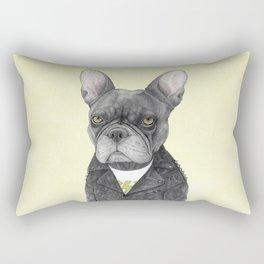 Hard Rock French Bulldog Rectangular Pillow