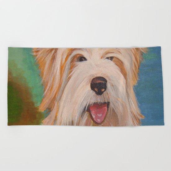 Terrier Portrait Beach Towel