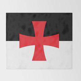 Knights Templar Flag Throw Blanket