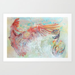 Looming Comfort Art Print
