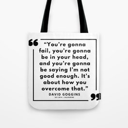 60  | David Goggins Quotes | 190901 Tote Bag