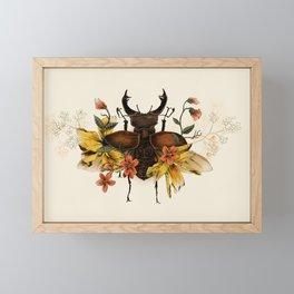 Blooming Beetle Framed Mini Art Print
