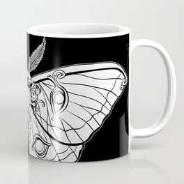Art Nouveau Moth (black background) Coffee Mug