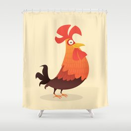 It's Time, Rooster! Shower Curtain