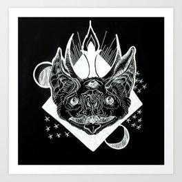 Batphomet (black) Art Print