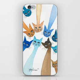 Chantilly Whimsical Cats iPhone Skin