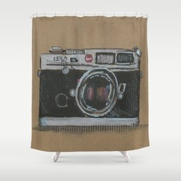 Diddie Doodle the Camera Shower Curtain