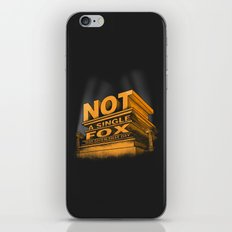 Not a single fox was given that day iPhone & iPod Skin