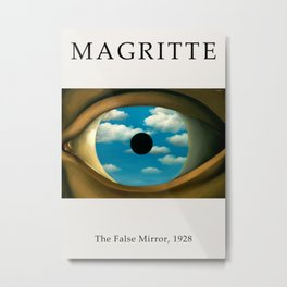 Rene Magritte - The False Mirror, 1928 - Exhibition Poster, Art Poster - Wall Art Decor Metal Print