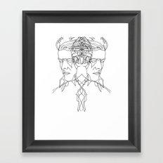 Duo Bowie Framed Art Print