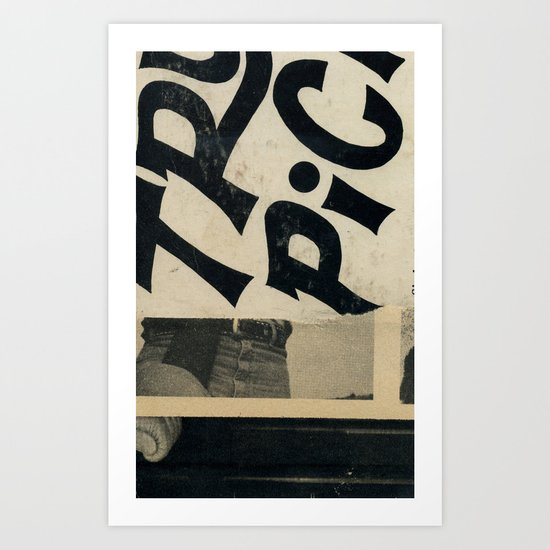 River Bummin' Art Print