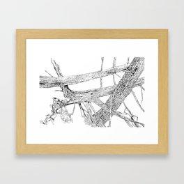 tangled cedars Framed Art Print