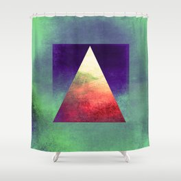 Triangle Composition VII Shower Curtain