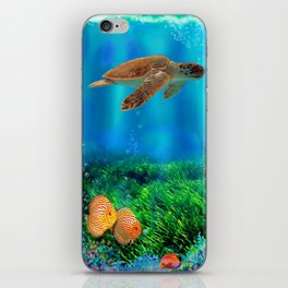 UnderSea with Turtle iPhone Skin