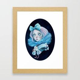 Little Clown with her Concertina Framed Art Print
