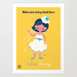 "Ministry of Optimistic Directives - ""Silver Lining"" Art Print"