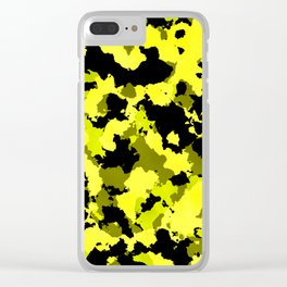 Yellow camouflage. Clear iPhone Case