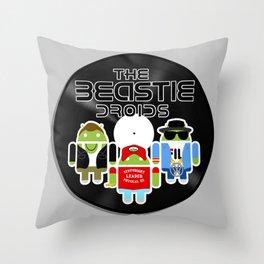 The Beastie Droids Throw Pillow