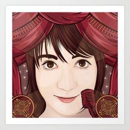 Oku Manami (AKB48) Art Print