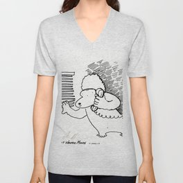 Busybody Ape Monitors the Neighborhood Unisex V-Neck