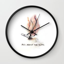 the butts Wall Clock