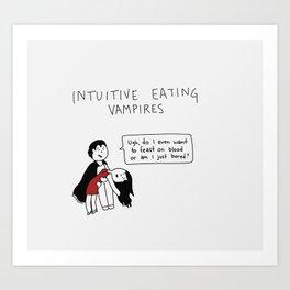 Intuitive Eating Vampires (Design 3 of 3) Art Print