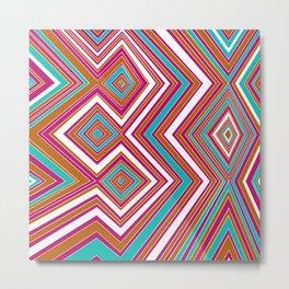 Tiffany - Four Diamonds - Lines - Illusions Metal Print