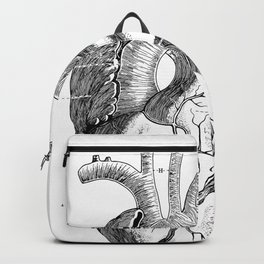 Anatomic hearth engraving Backpack