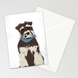Miniature Schnauzer Dog art Stationery Cards